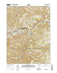 Punxsutawney Pennsylvania Current topographic map, 1:24000 scale, 7.5 X 7.5 Minute, Year 2016