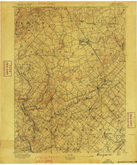 Quakertown Pennsylvania Historical topographic map, 1:62500 scale, 15 X 15 Minute, Year 1890