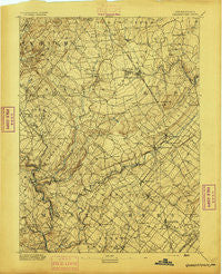 Quakertown Pennsylvania Historical topographic map, 1:62500 scale, 15 X 15 Minute, Year 1894