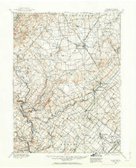 Quakertown Pennsylvania Historical topographic map, 1:62500 scale, 15 X 15 Minute, Year 1888