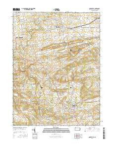 Quarryville Pennsylvania Current topographic map, 1:24000 scale, 7.5 X 7.5 Minute, Year 2016