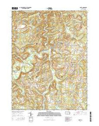 Ramey Pennsylvania Current topographic map, 1:24000 scale, 7.5 X 7.5 Minute, Year 2016