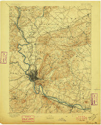 Reading Pennsylvania Historical topographic map, 1:62500 scale, 15 X 15 Minute, Year 1894
