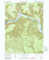 Renovo East Pennsylvania Historical topographic map, 1:24000 scale, 7.5 X 7.5 Minute, Year 1946