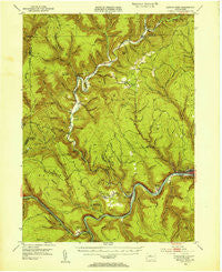 Renovo West Pennsylvania Historical topographic map, 1:62500 scale, 15 X 15 Minute, Year 1946