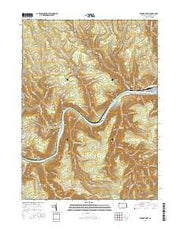 Renovo West Pennsylvania Current topographic map, 1:24000 scale, 7.5 X 7.5 Minute, Year 2016 from Pennsylvania Maps Store