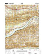 Riverside Pennsylvania Current topographic map, 1:24000 scale, 7.5 X 7.5 Minute, Year 2016 from Pennsylvania Map Store