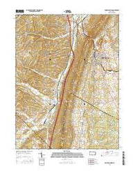 Roaring Spring Pennsylvania Current topographic map, 1:24000 scale, 7.5 X 7.5 Minute, Year 2016