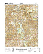 Saltsburg Pennsylvania Current topographic map, 1:24000 scale, 7.5 X 7.5 Minute, Year 2016 from Pennsylvania Map Store