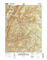 Saxton Pennsylvania Current topographic map, 1:24000 scale, 7.5 X 7.5 Minute, Year 2016