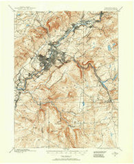 Scranton Pennsylvania Historical topographic map, 1:62500 scale, 15 X 15 Minute, Year 1889
