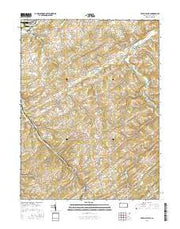 Seven Valleys Pennsylvania Current topographic map, 1:24000 scale, 7.5 X 7.5 Minute, Year 2016 from Pennsylvania Maps Store