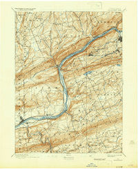 Shickshinny Pennsylvania Historical topographic map, 1:62500 scale, 15 X 15 Minute, Year 1894