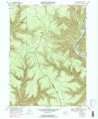 Slate Run Pennsylvania Historical topographic map, 1:24000 scale, 7.5 X 7.5 Minute, Year 1946
