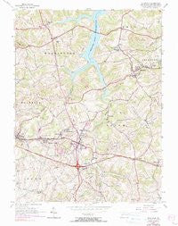 Slickville Pennsylvania Historical topographic map, 1:24000 scale, 7.5 X 7.5 Minute, Year 1954