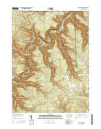 Snow Shoe NW Pennsylvania Current topographic map, 1:24000 scale, 7.5 X 7.5 Minute, Year 2016 from Pennsylvania Map Store