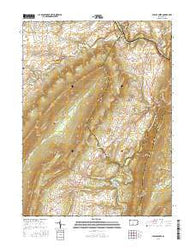 Spruce Creek Pennsylvania Current topographic map, 1:24000 scale, 7.5 X 7.5 Minute, Year 2016