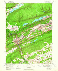 Tamaqua Pennsylvania Historical topographic map, 1:24000 scale, 7.5 X 7.5 Minute, Year 1947