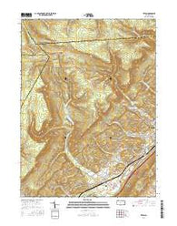 Tipton Pennsylvania Current topographic map, 1:24000 scale, 7.5 X 7.5 Minute, Year 2016