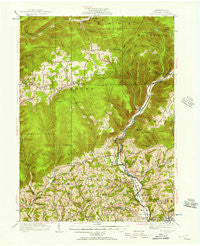 Trout Run Pennsylvania Historical topographic map, 1:62500 scale, 15 X 15 Minute, Year 1921
