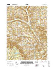 Troy Pennsylvania Current topographic map, 1:24000 scale, 7.5 X 7.5 Minute, Year 2016 from Pennsylvania Maps Store