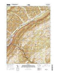 Tyrone Pennsylvania Current topographic map, 1:24000 scale, 7.5 X 7.5 Minute, Year 2016