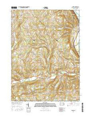Ulster Pennsylvania Current topographic map, 1:24000 scale, 7.5 X 7.5 Minute, Year 2016 from Pennsylvania Maps Store