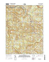 Wallaceton Pennsylvania Current topographic map, 1:24000 scale, 7.5 X 7.5 Minute, Year 2016