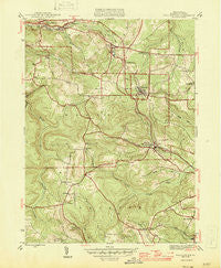 Wallaceton Pennsylvania Historical topographic map, 1:31680 scale, 7.5 X 7.5 Minute, Year 1946