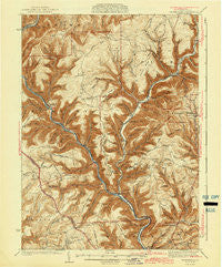 Waterville Pennsylvania Historical topographic map, 1:62500 scale, 15 X 15 Minute, Year 1943