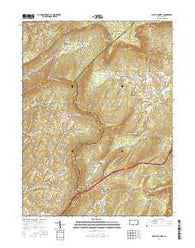 Wells Tannery Pennsylvania Current topographic map, 1:24000 scale, 7.5 X 7.5 Minute, Year 2016