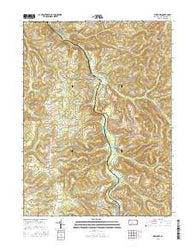 Westover Pennsylvania Current topographic map, 1:24000 scale, 7.5 X 7.5 Minute, Year 2016