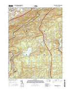 Wilkes-Barre East Pennsylvania Current topographic map, 1:24000 scale, 7.5 X 7.5 Minute, Year 2016 from Pennsylvania Map Store