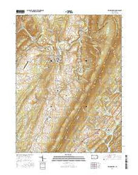 Williamsburg Pennsylvania Current topographic map, 1:24000 scale, 7.5 X 7.5 Minute, Year 2016