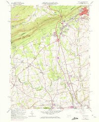 Wind Gap Pennsylvania Historical topographic map, 1:24000 scale, 7.5 X 7.5 Minute, Year 1960