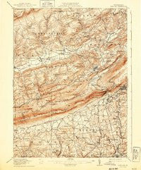 Wind Gap Pennsylvania Historical topographic map, 1:62500 scale, 15 X 15 Minute, Year 1916