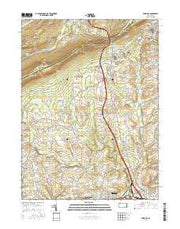Wind Gap Pennsylvania Current topographic map, 1:24000 scale, 7.5 X 7.5 Minute, Year 2016 from Pennsylvania Maps Store