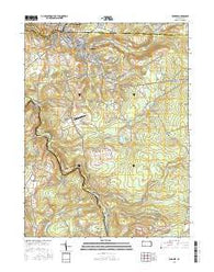 Windber Pennsylvania Current topographic map, 1:24000 scale, 7.5 X 7.5 Minute, Year 2016