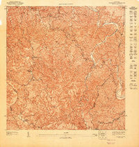 Adjuntas NE Puerto Rico Historical topographic map, 1:10000 scale, 3.75 X 3.75 Minute, Year 1947