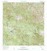 Adjuntas Puerto Rico Historical topographic map, 1:20000 scale, 7.5 X 7.5 Minute, Year 1960