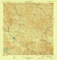 Adjuntas Puerto Rico Historical topographic map, 1:30000 scale, 7.5 X 7.5 Minute, Year 1946