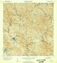 Adjuntas Puerto Rico Historical topographic map, 1:30000 scale, 7.5 X 7.5 Minute, Year 1952