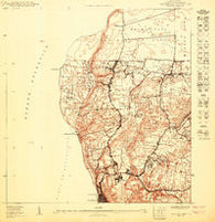 Aguadilla NE Puerto Rico Historical topographic map, 1:10000 scale, 3.75 X 3.75 Minute, Year 1950
