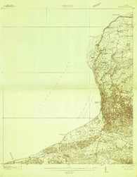 Aguadilla Puerto Rico Historical topographic map, 1:20000 scale, 7.5 X 7.5 Minute, Year 1937