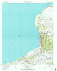 Aguadilla Puerto Rico Historical topographic map, 1:20000 scale, 7.5 X 7.5 Minute, Year 1960
