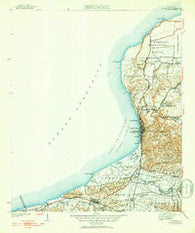 Aguadilla Puerto Rico Historical topographic map, 1:30000 scale, 7.5 X 7.5 Minute, Year 1942