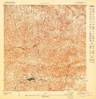 Aguas Buenas SO Puerto Rico Historical topographic map, 1:10000 scale, 3.75 X 3.75 Minute, Year 1947