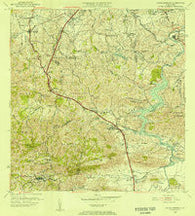 Aguas Buenas Puerto Rico Historical topographic map, 1:20000 scale, 7.5 X 7.5 Minute, Year 1955