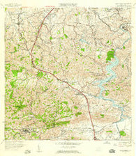Aguas Buenas Puerto Rico Historical topographic map, 1:20000 scale, 7.5 X 7.5 Minute, Year 1957