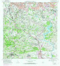 Aguas Buenas Puerto Rico Historical topographic map, 1:20000 scale, 7.5 X 7.5 Minute, Year 1969